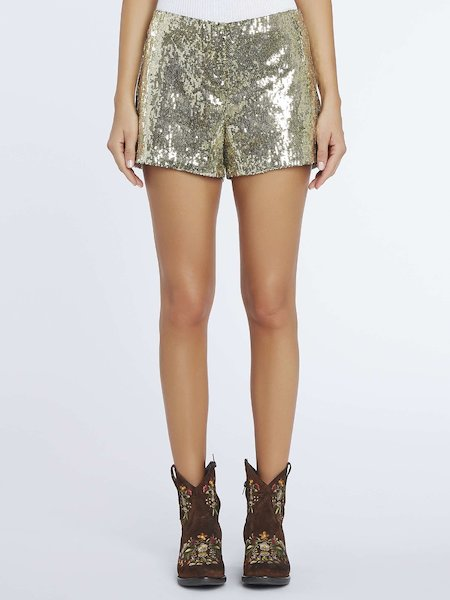 Short en paillettes
