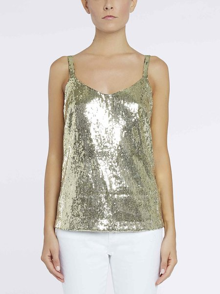 Top with sequins - Gold