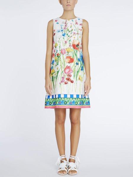 Ausgestelltes Kleid in A-Linie mit floralem Print