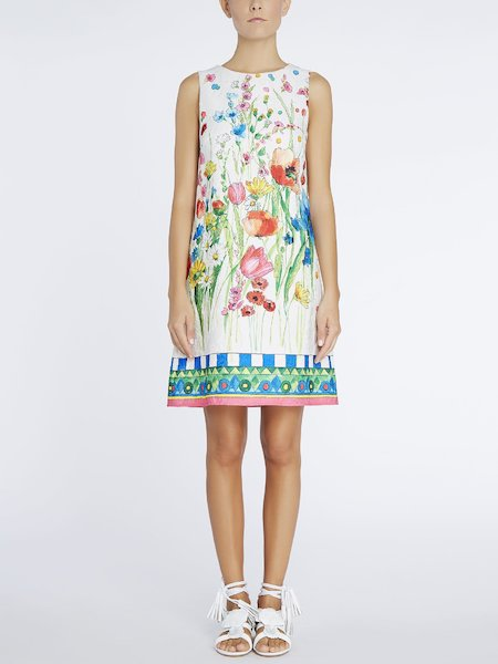 Floral-print A-line dress - Multicolored