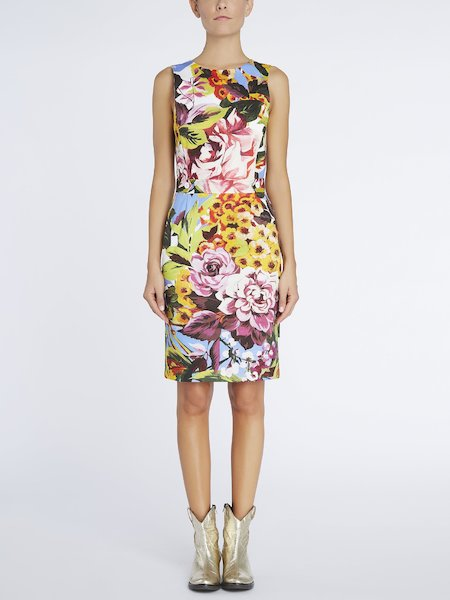 Robe fourreau imprimé floral