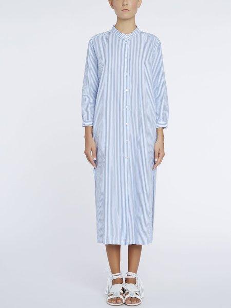 Платье-рубашка с принтом полос - белый