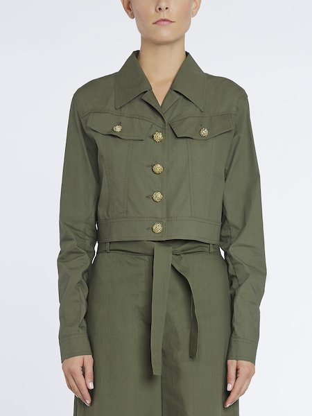 Short jacket with jewel buttons
