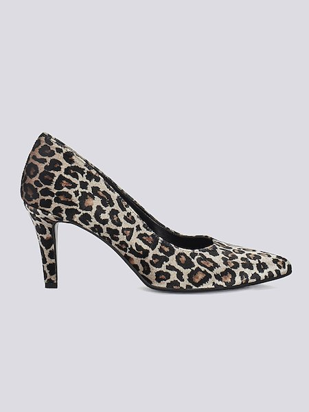 Pumps im Animal-Print