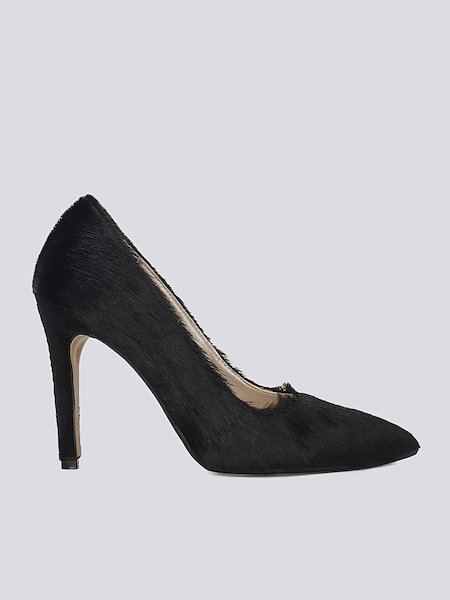 Pumps in pony - Black