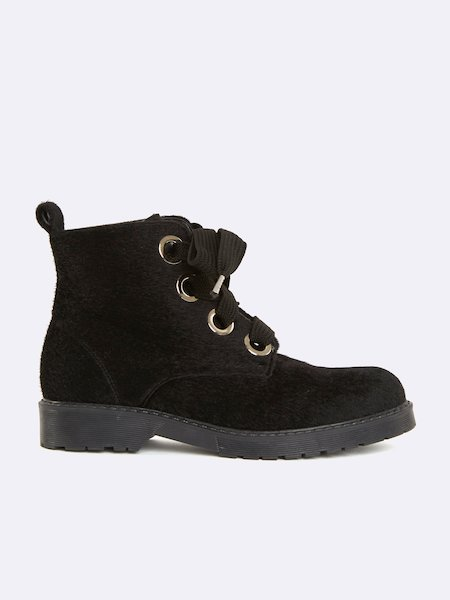 Ankle boots with laces - Schwarz