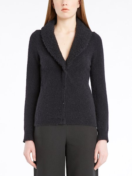 BluVi cardigan with jewel buttons - Schwarz
