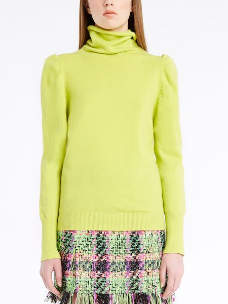 Turtleneck sweater in wool-cashmere - Amarillo