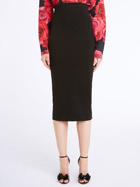 Falda de punto de cintura alta
