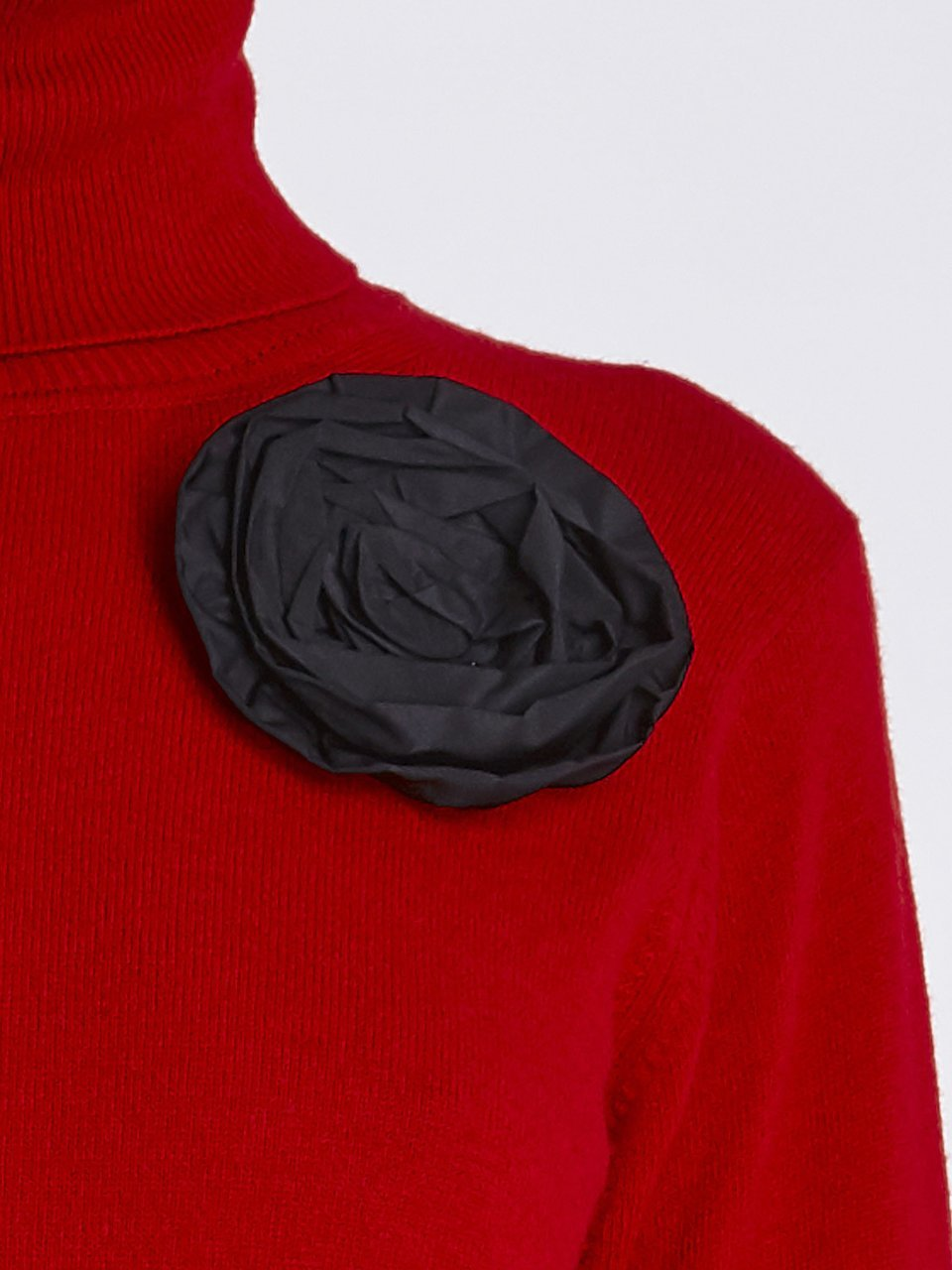 Turtleneck Sweater With Floral Application | Blumarine ®