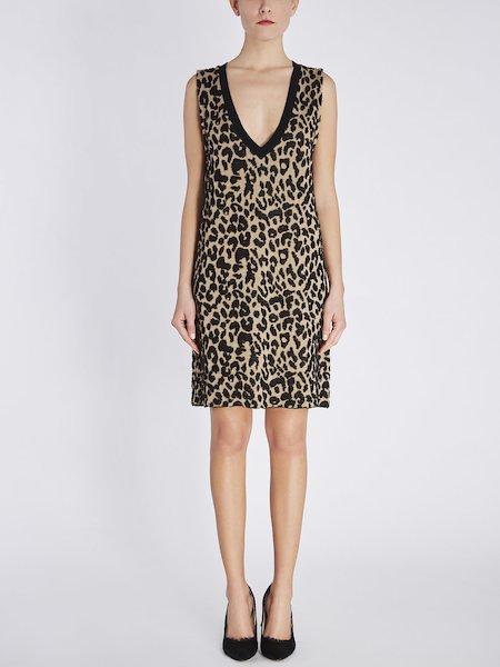 Платье без рукавов с животным мотивом