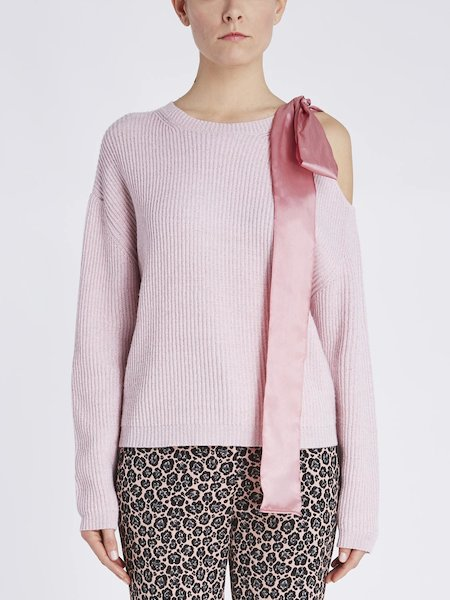 Sweater with maxi-bow - pink