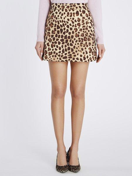 Мини-юбка с животным принтом