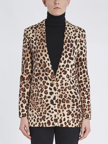 Blazer im Animal-Print