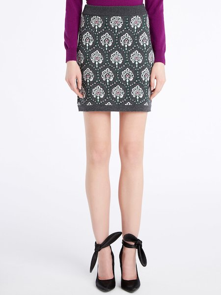 Knit miniskirt