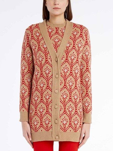 Long-sleeved cardigan - beige