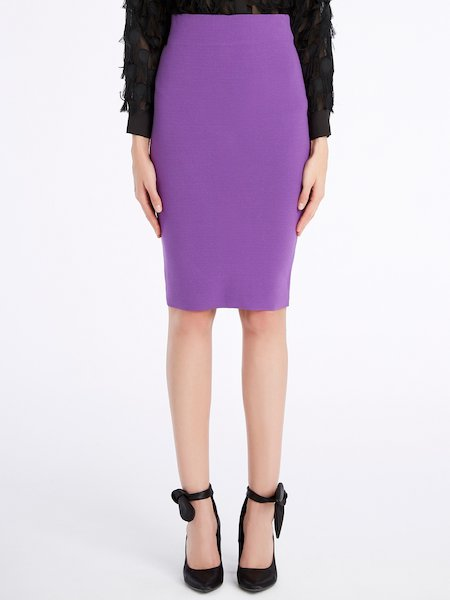 Knit pencil skirt - Violet
