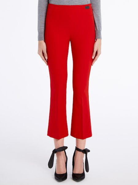 Trumpet-leg trousers - red