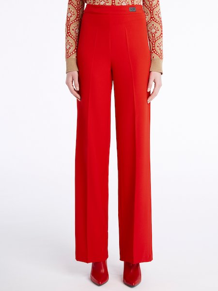 Pantalon jambe large - rouge