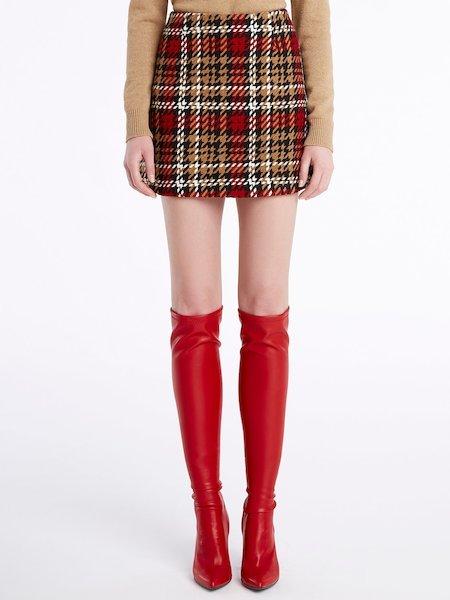 Tartan miniskirt - Schwarz