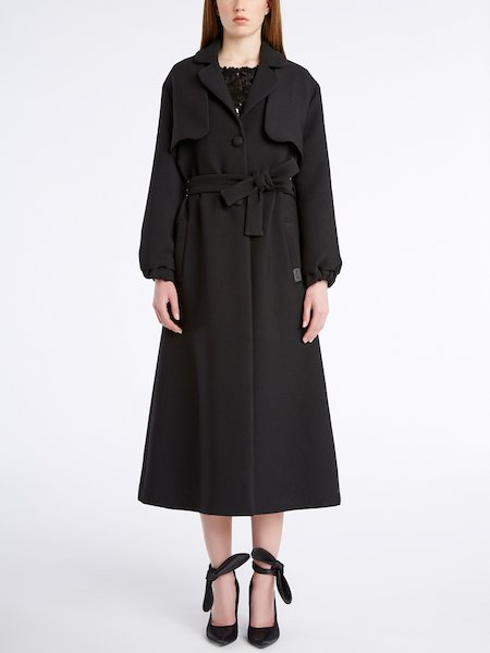 Single-breasted trench coat with belt