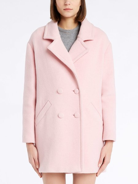 Short double-breasted overcoat - pink