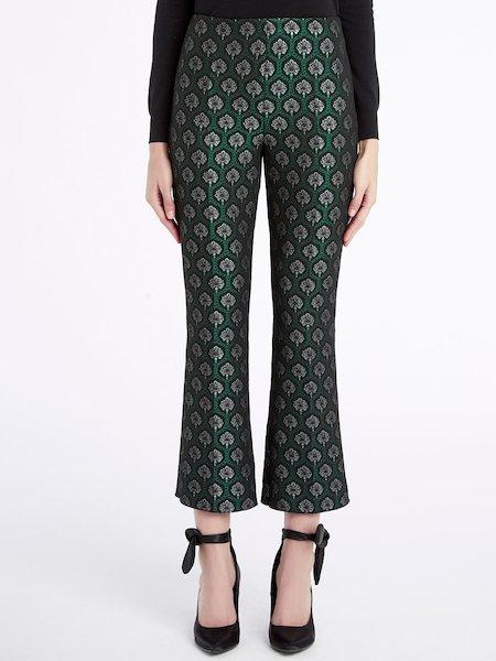 Jacquard trumpet-leg trousers