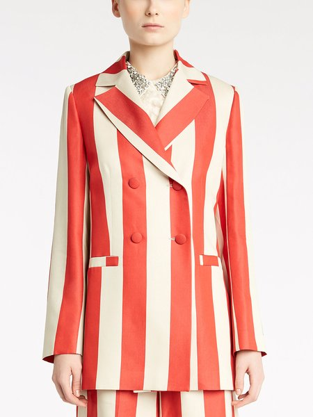 Striped, two-tone, double-breasted jacket