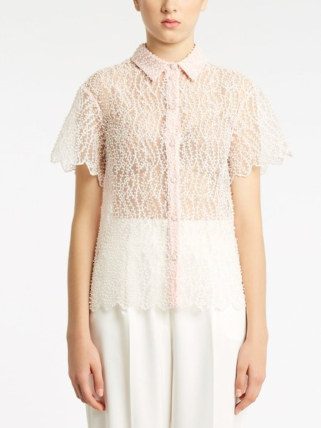 Organza shirt with embroidery - pink