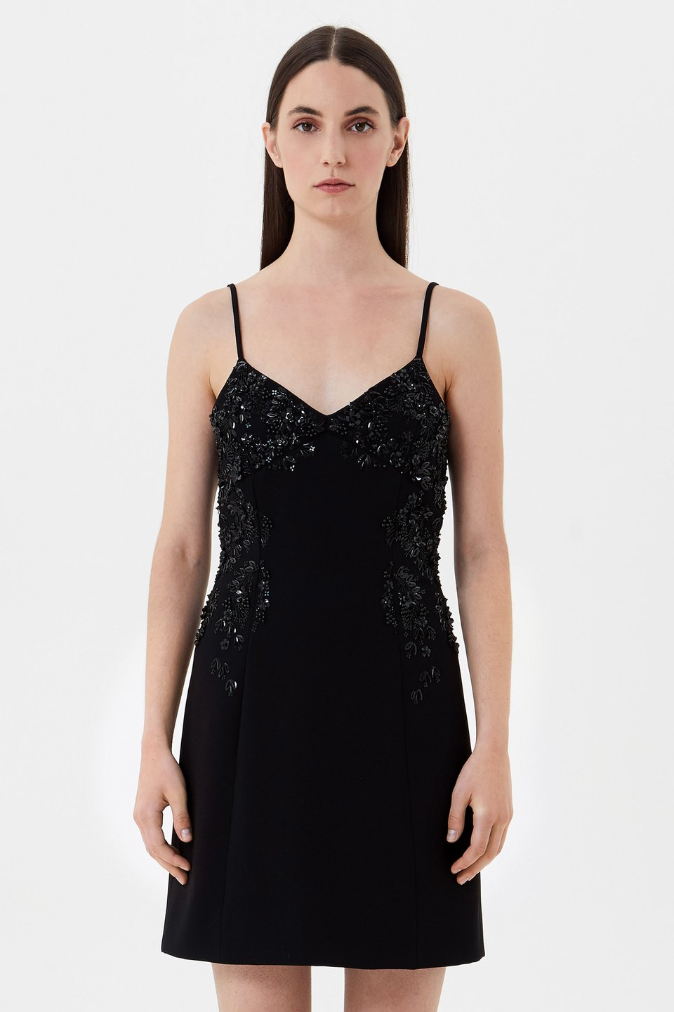 Slip dress with embroidery