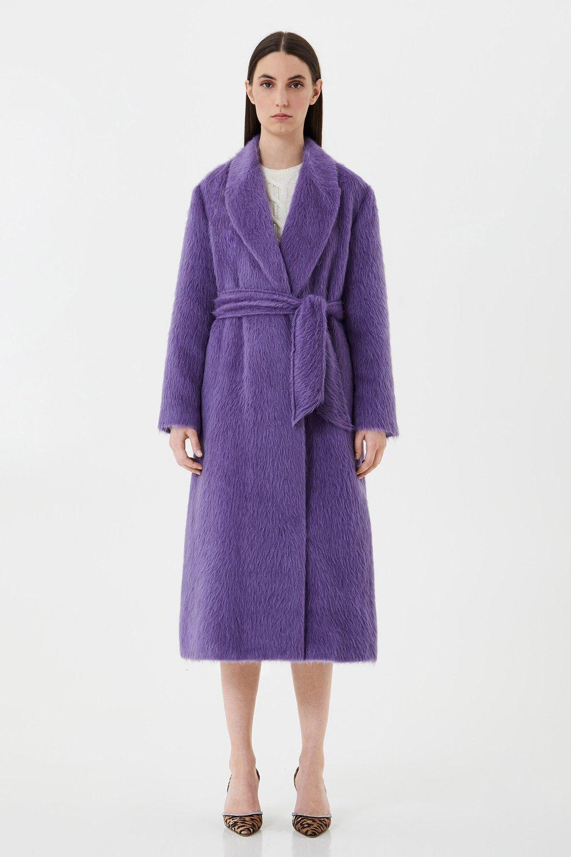 Пальто из альпака и шерсти