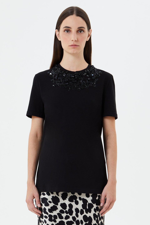 T-shirt in Cotone Con Ricamo