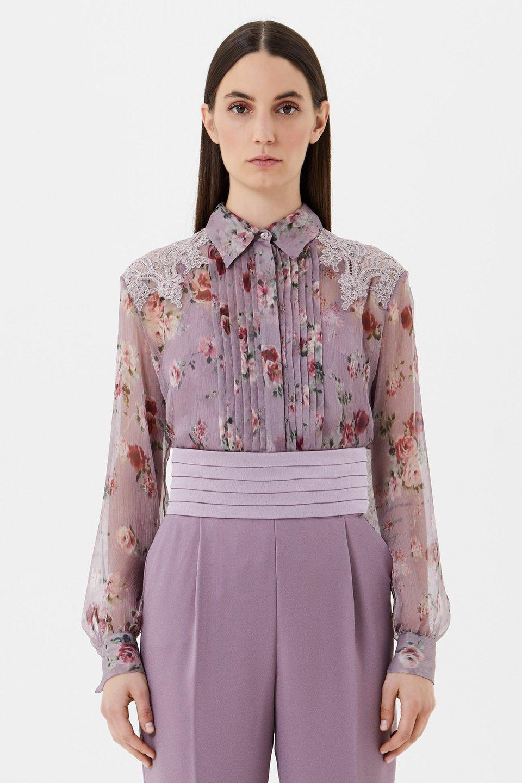 Camisa de chiffon de seda