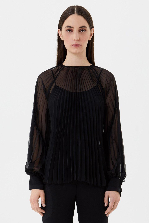 Блузка из плиссированного шифона