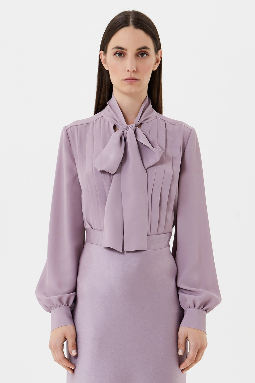 Chemise avec motif plissé