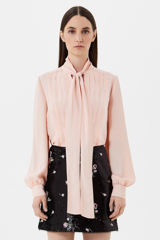 Рубашка с плиссировкой