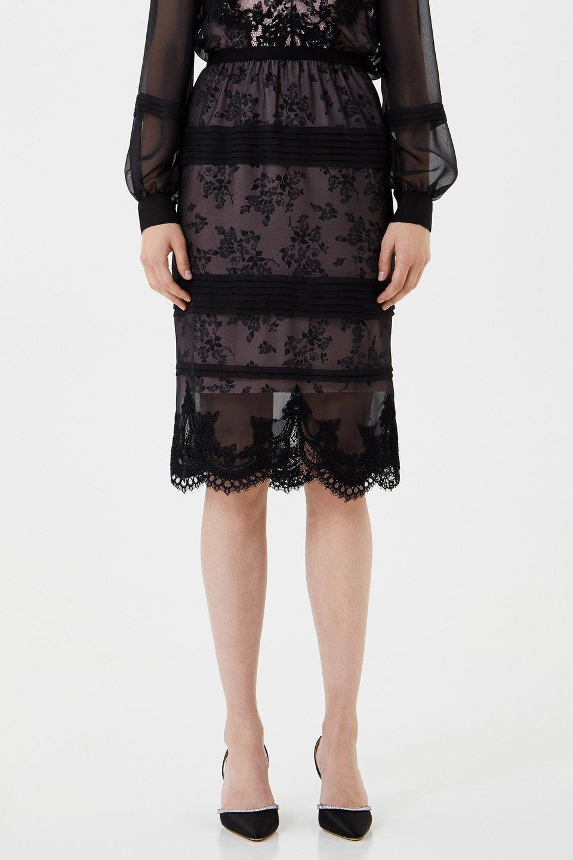 Chiffon and lace skirt