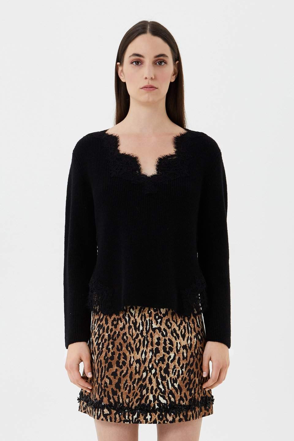 Wool and lace jumper