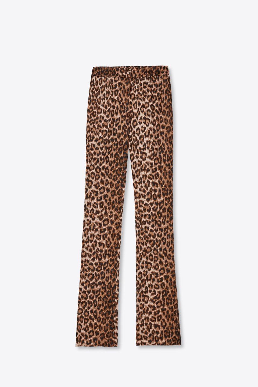Pantaloni a Vita Bassa Stampa Animalier