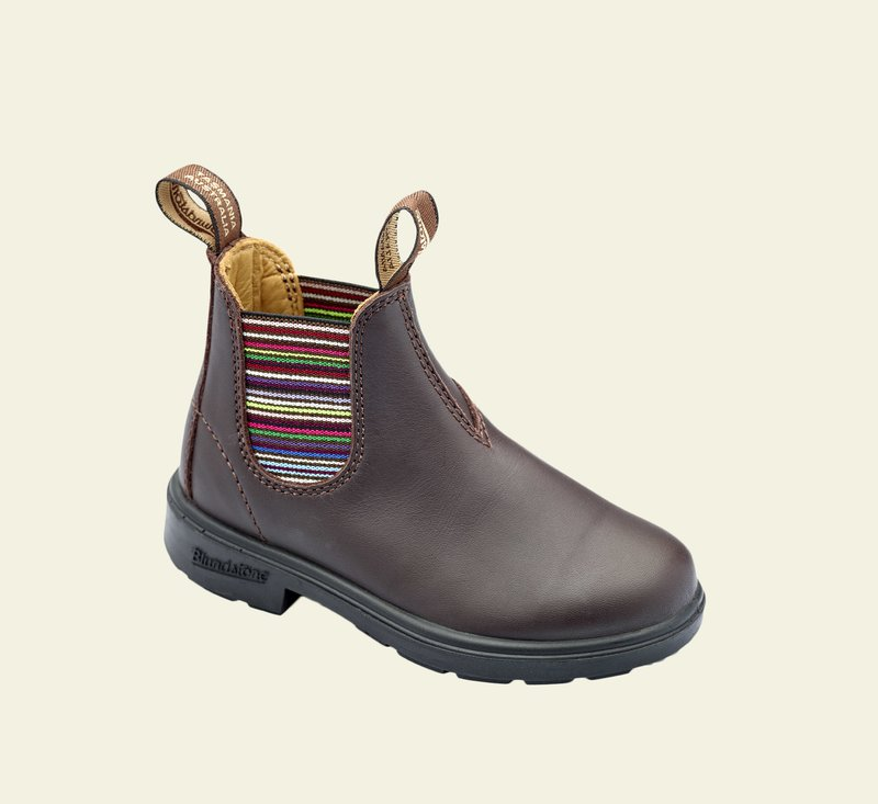 Boots #1413 - KIDS - Brown & Stripes