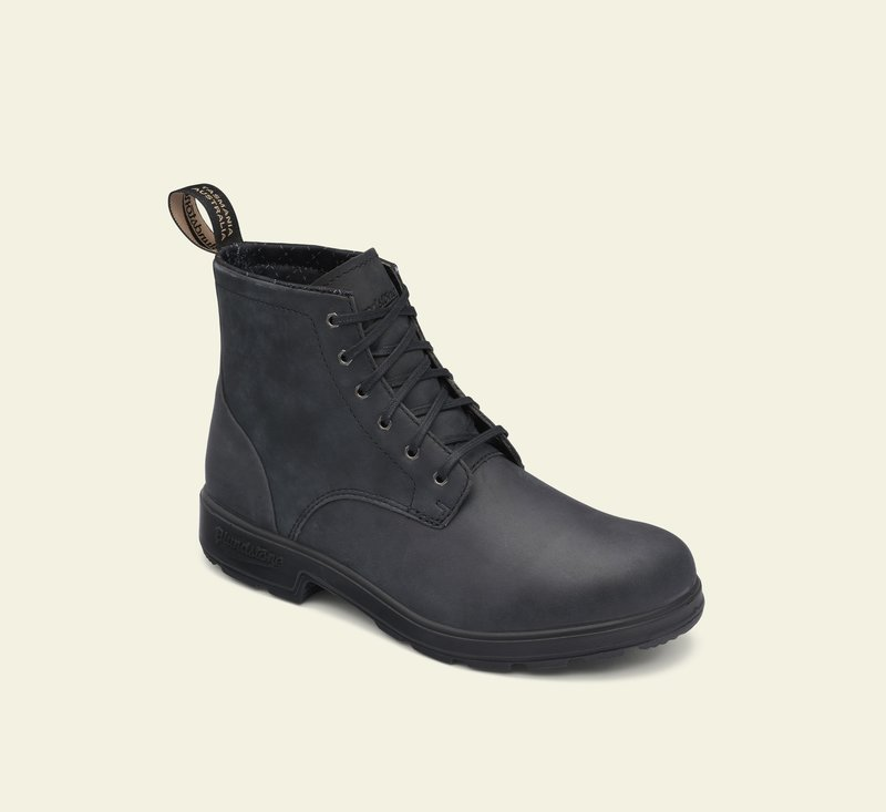 Boots #1931 - LACE UP SERIES - Rustic Black