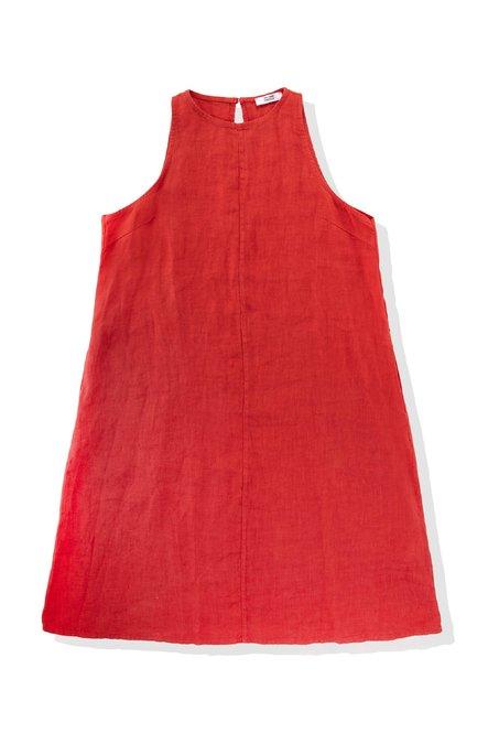 Sleeveless dress in linen