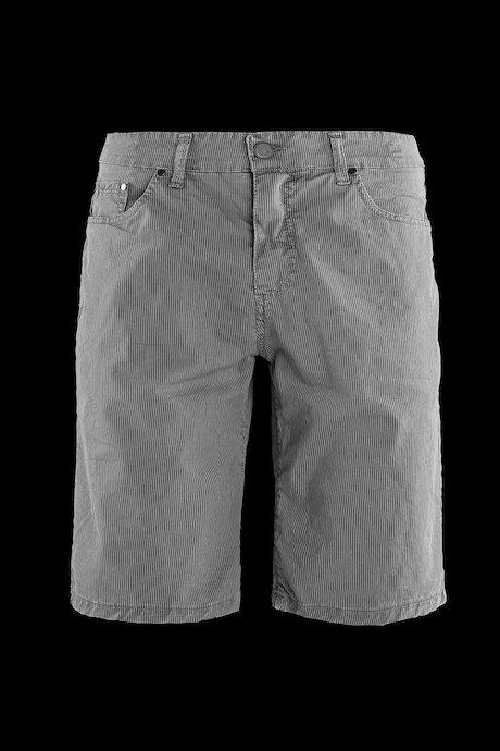Striped shorts five pockets