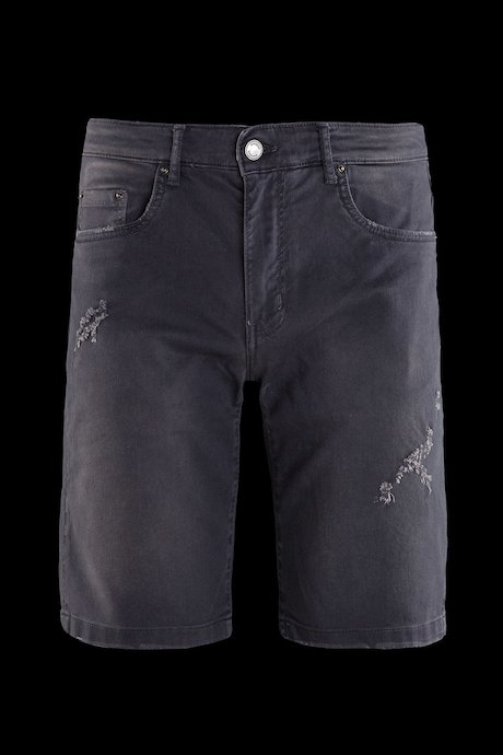 Shorts five pockets faded effect