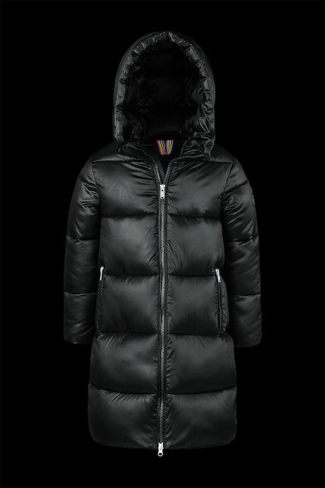 Shiny Down Jacket with Hood