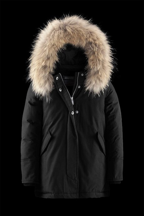 Girl's parka down-like padding