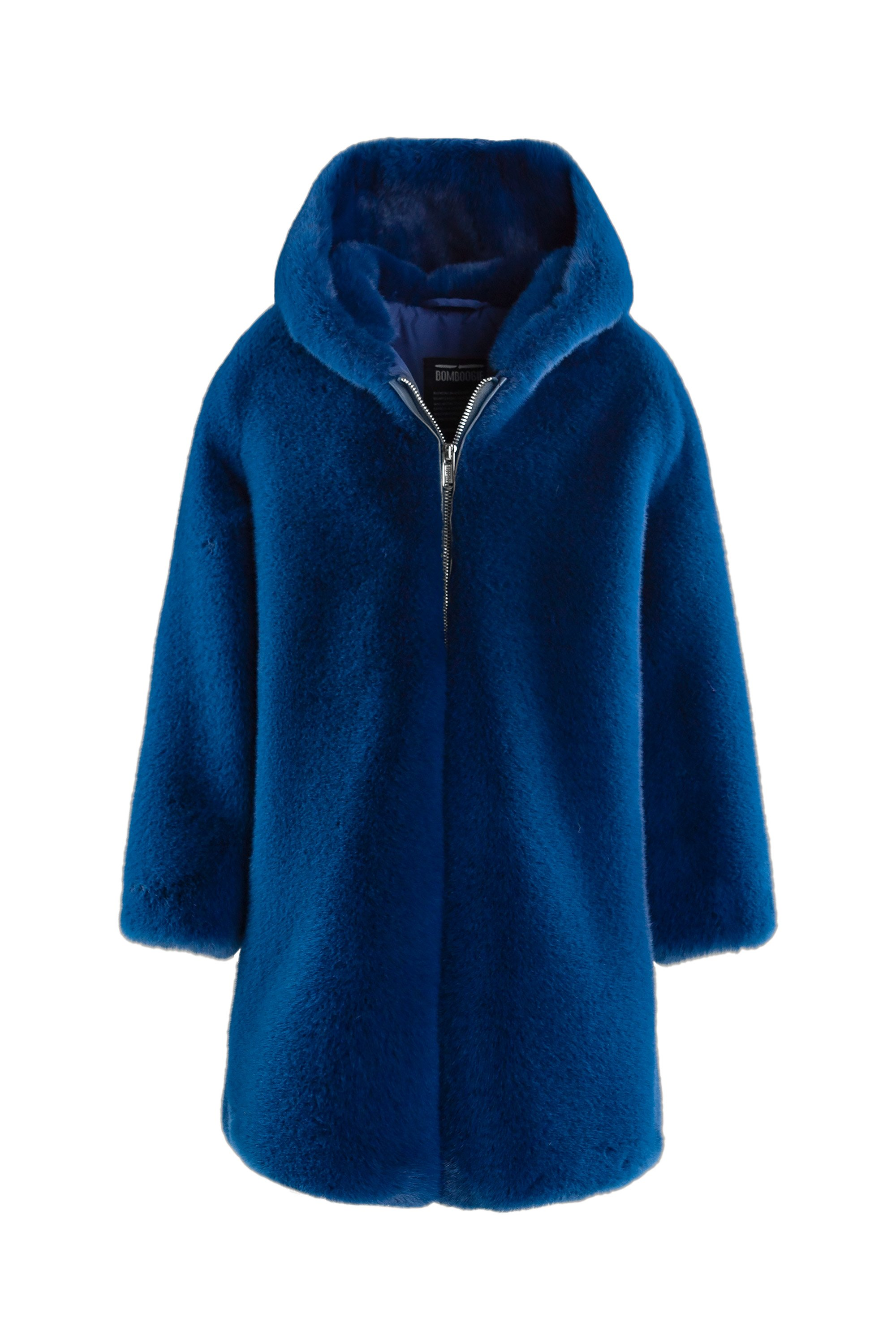 Extra soft faux fur coat with hood