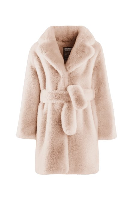 Extra soft faux fur coat with belt