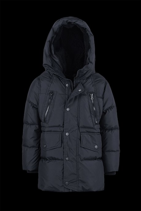 Multi Pocket Down Jacket with Hood