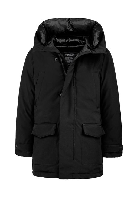 Synthetic parka multi pocket